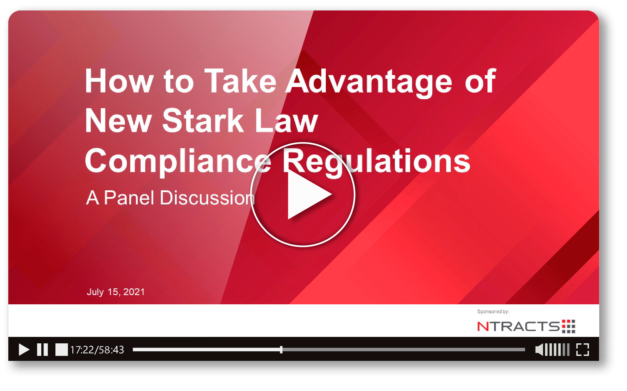 Video Thumbnail - Panel Discussion - Stark Law Updates_July2021_v2